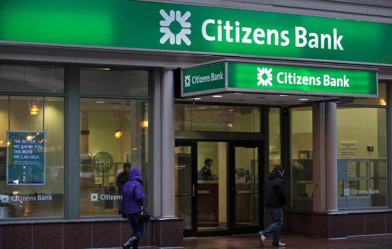 A Citizens Bank branch in Boston, Mass. (Photo by Bloomberg)