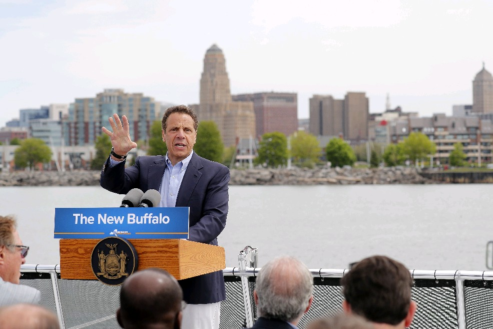 Reviving Buffalo won't be nearly enough to carry Andrew Cuomo to the White House. If he's considering a presidential run, he will have to continue practicing how to lie. (Mark Mullville/Buffalo News file photo)