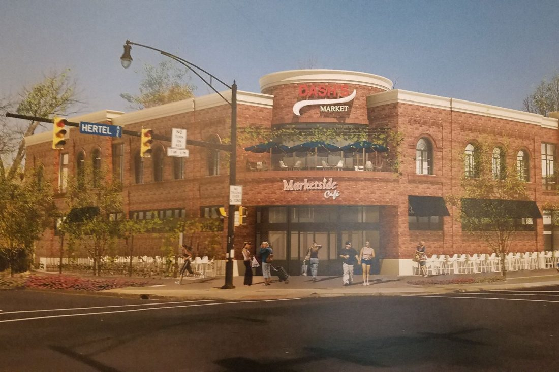 A rendering of a proposed Dash's Market on Hertel Avenue that was presented during a meeting in May. (Harold McNeil/Buffalo News)