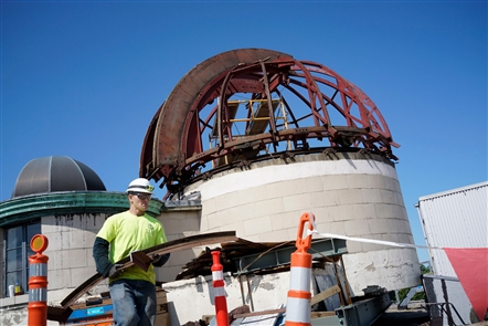Kellogg Observatory dismantled for renovation