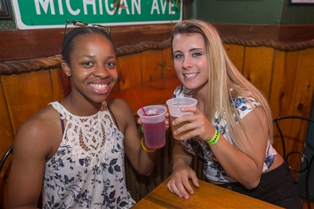 Smiles at the Big Fat Sunday Funday Bar Crawl