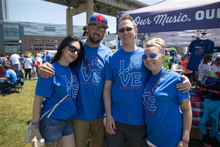 Smiles at human Buffalove at Canalside