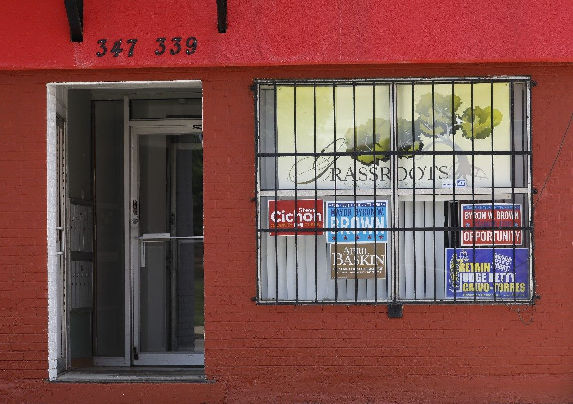 Investigators raided the Genesee Street offices of the Grassroots political club June 15. Grassroots now has failed to file required campaign finance reports due last Monday with the state Board of Elections. (Derek Gee/Buffalo News)