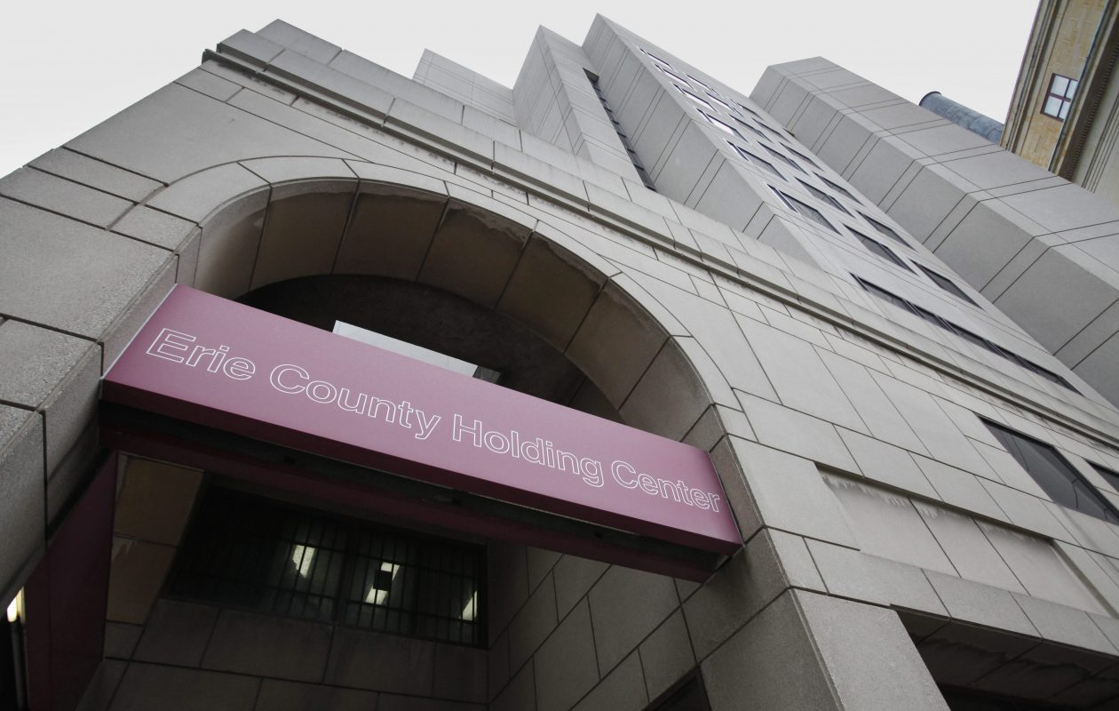 The Erie County Holding Center in downtown Buffalo.  (Derek Gee/Buffalo News)