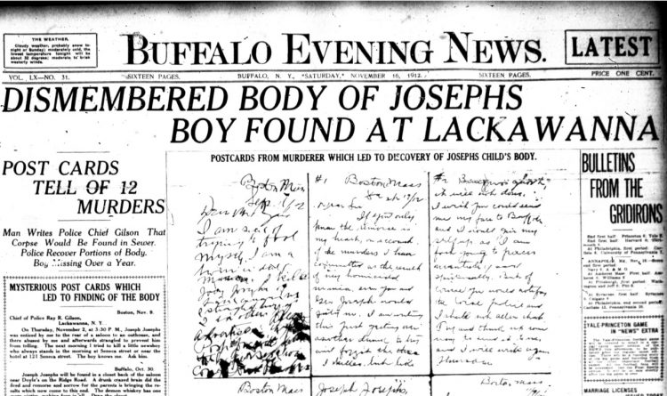 Forgotten Crimes: 'Postcard Killer' taunts family of slain Lackawanna boy