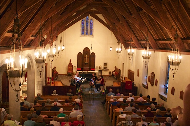 The Roycroft Chamber Music Festival takes place in beautiful little St. Matthias Church in East Aurora. (Photo courtesy of Roycroft Chamber Music Festival.)