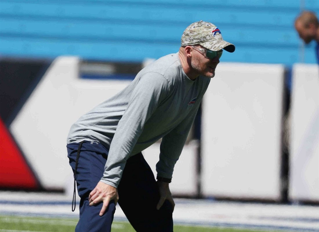 It will be asking a lot for Sean McDermott to make the Bills noticeably better in his first year as head coach. (James P. McCoy/Buffalo News)
