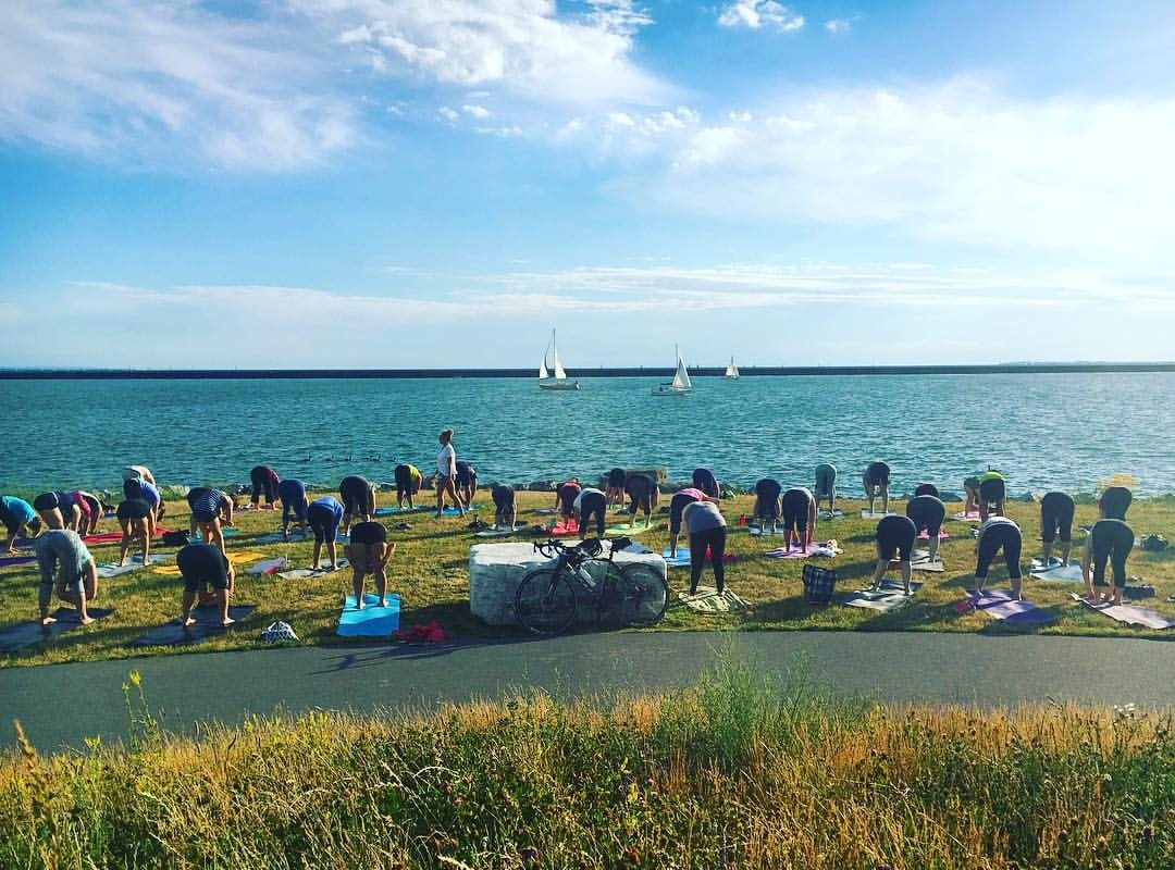 Organizers hope the first Chase the Sun Yoga Festival on Saturday will allow participants to enjoy the Outer Harbor in a healthy way.