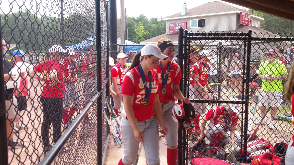Williamsville East walks off the diamond at Moreau Recreation Park following a 1-0 loss in the state Class A final to Maine-Endwell.