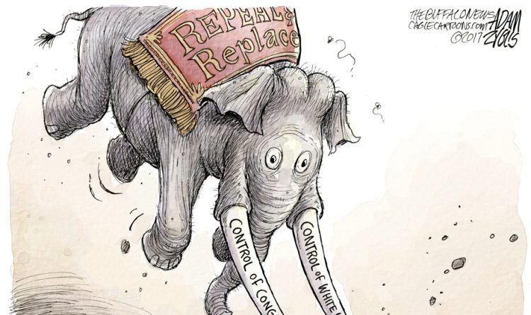 Adam Zyglis: Repeal and replace campaign