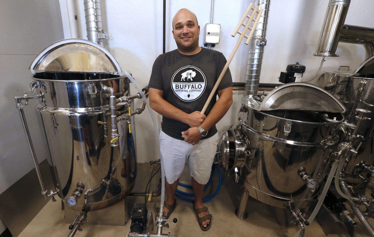 John Domres, co-owner of Buffalo Brewing Co., 314 Myrtle Ave. (Robert Kirkham/Buffalo News)