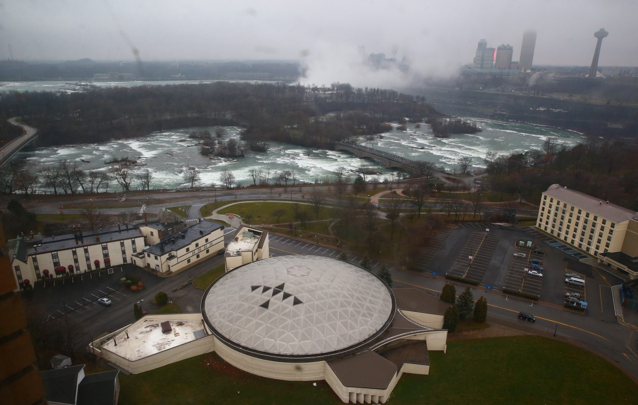 The proposed hotel would be built on land that currently is home to the long-vacant 'Turtle' building in Niagara Falls, N.Y. (John Hickey/Buffalo News)