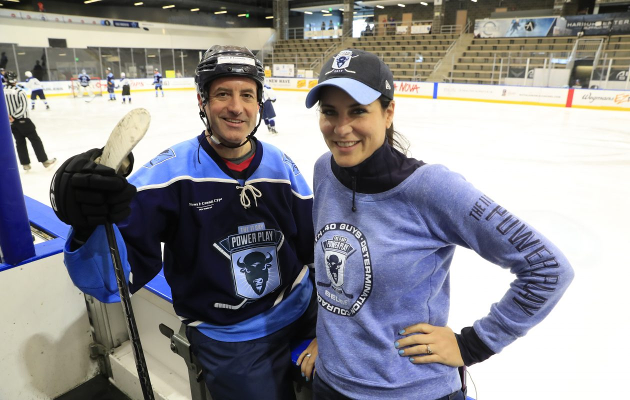 Mike and Amy Lesakowski are founders  and co-chairs  of the 11 Day Power Play at HarborCenter on Sunday, July 2, 2017. (Harry Scull Jr./Buffalo News)