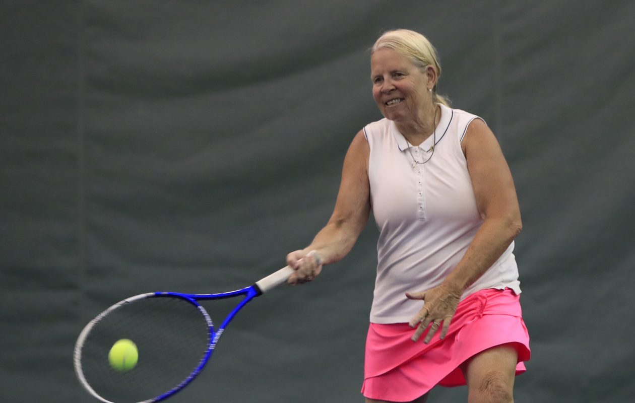 Cheryl Meyer has excelled at many different sports over the years, but now she concentrates on tennis. (Harry Scull Jr./Buffalo News)
