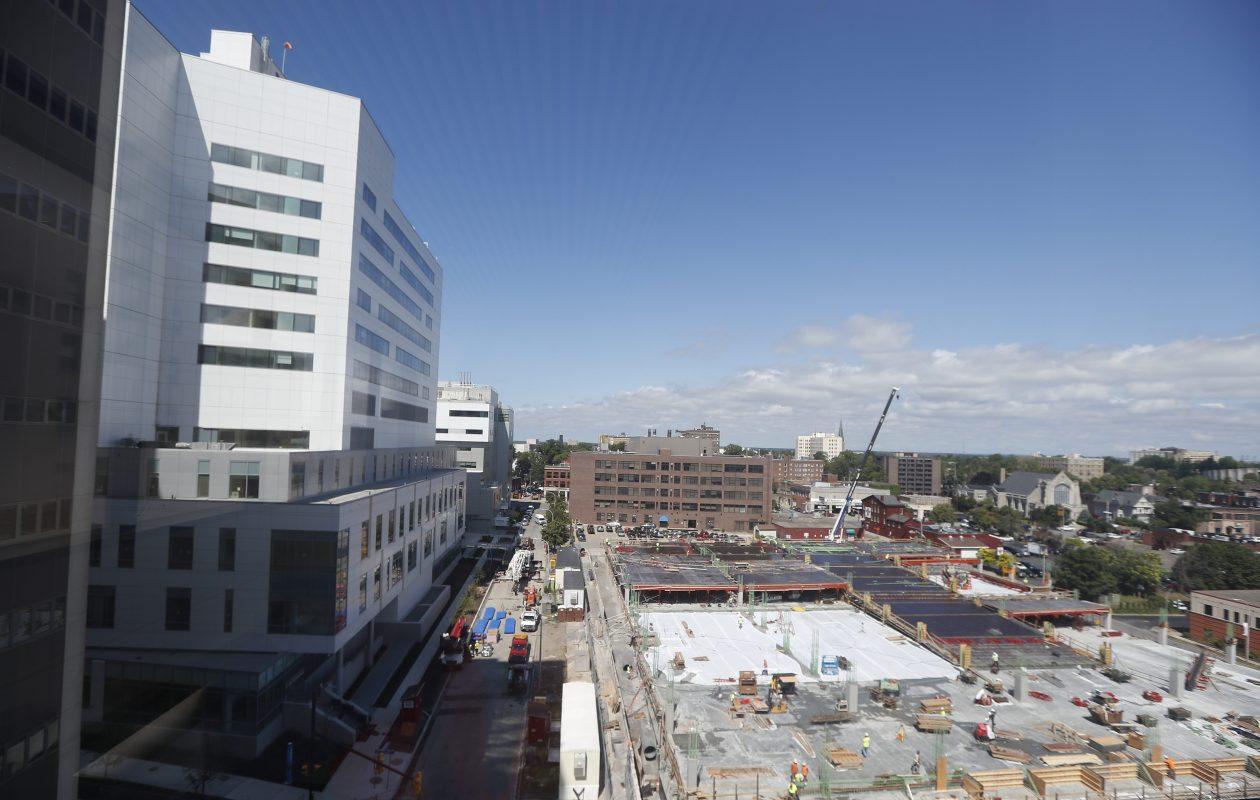 The new John R. Oishei Children's Hospital is under construction on the Buffalo Niagara Medical Campus.   (John Hickey/Buffalo News)