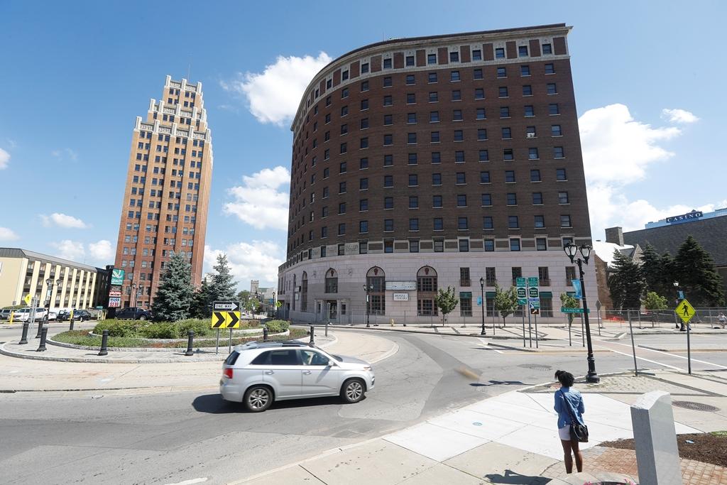 The Hotel Niagara, right, will undergo a $42 million makeover.    (John Hickey/Buffalo News)