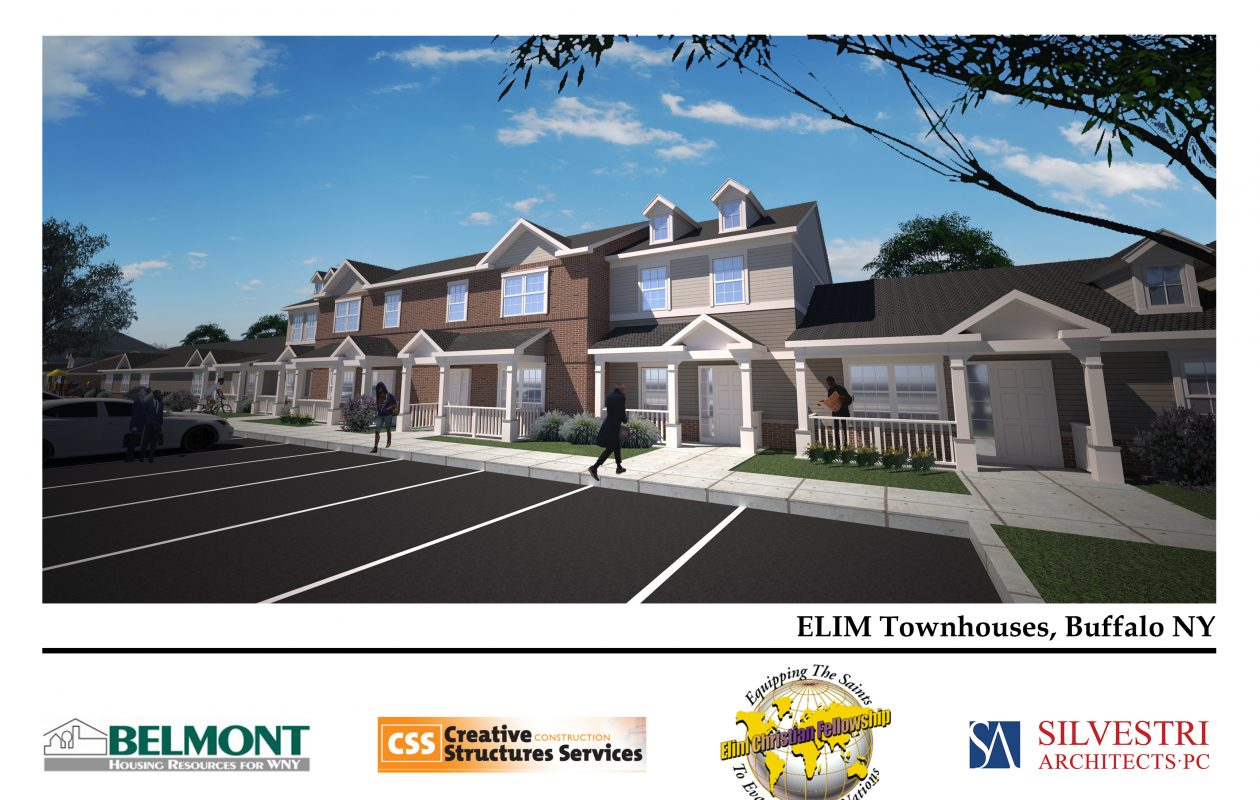 A rendering of a proposed 30-unit affordable housing development in the former Central Park Plaza. (Provided by Elim Community Development Corp.)