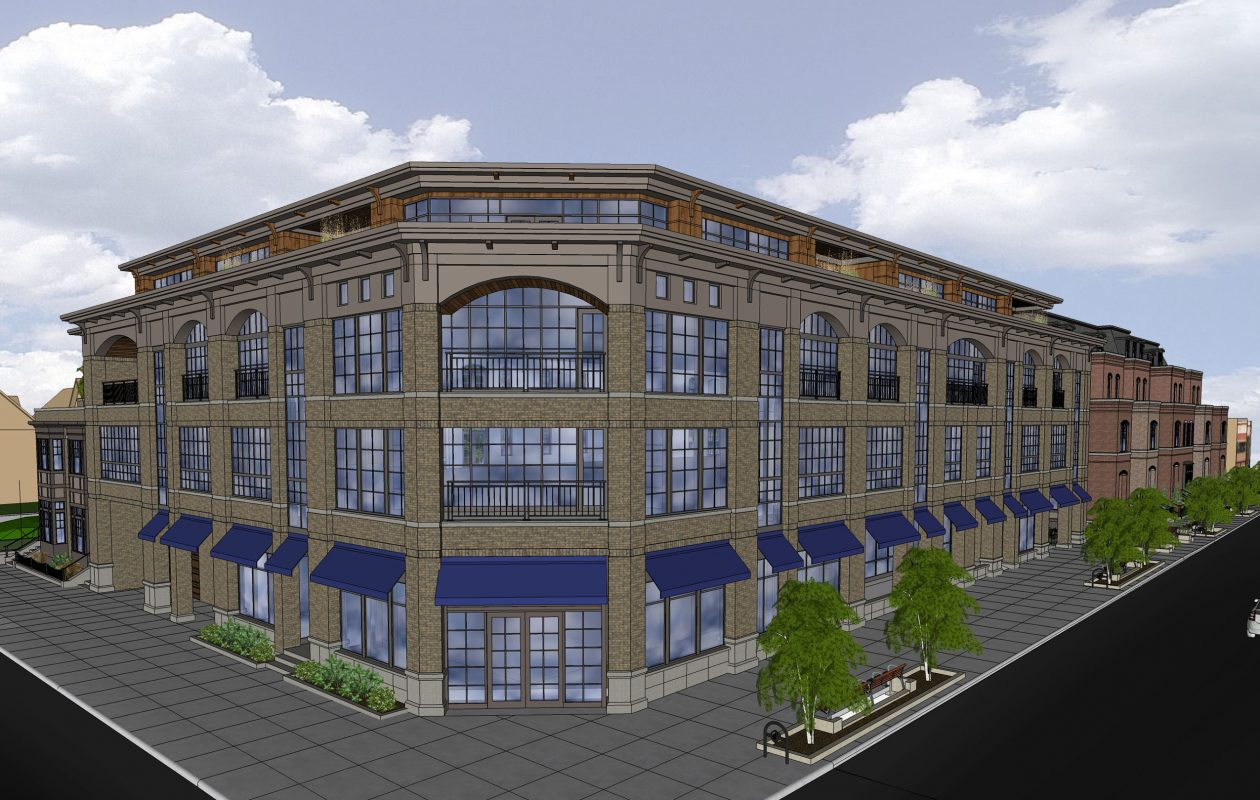 Chason Affinity's proposed four-story project at 1111 Elmwood.