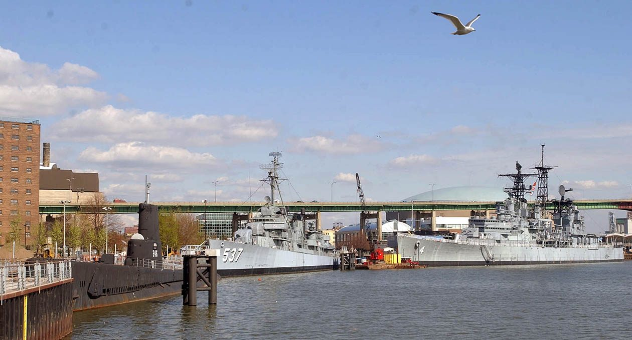 The USS Croaker, left, the USS the Sullivans, middle, and the USS Little Rock. (Derek Gee/News file photo)