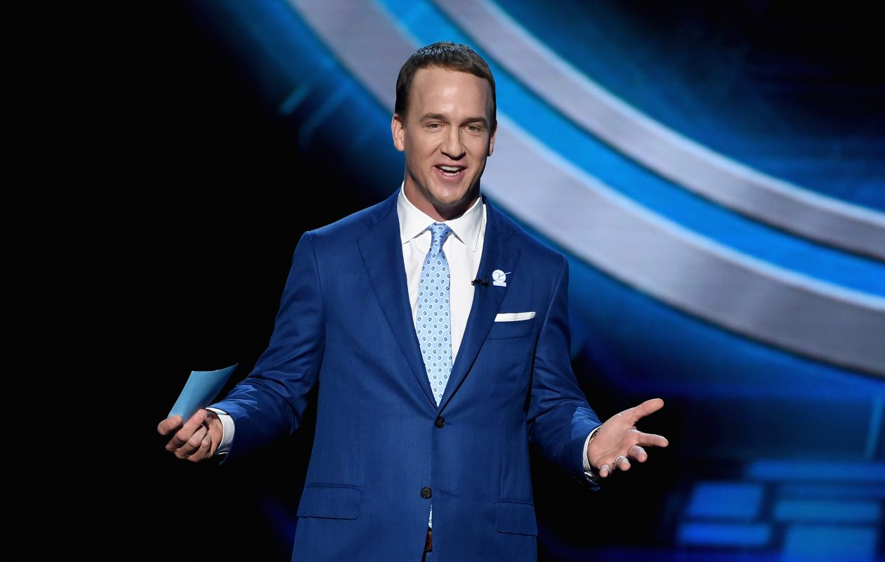 Host Peyton Manning speaks onstage at The 2017 ESPYS at Microsoft Theater on July 12, 2017, in Los Angeles. (Photo by Kevin Winter/Getty Images)