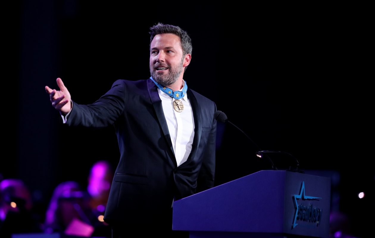 Ben Affleck speaks on stage at the 2017 Starkey Hearing Foundation So the World May Hear Awards Gala in St. Paul, Minn this month. (Photo by Adam Bettcher/Getty Images for Starkey Hearing Foundation)