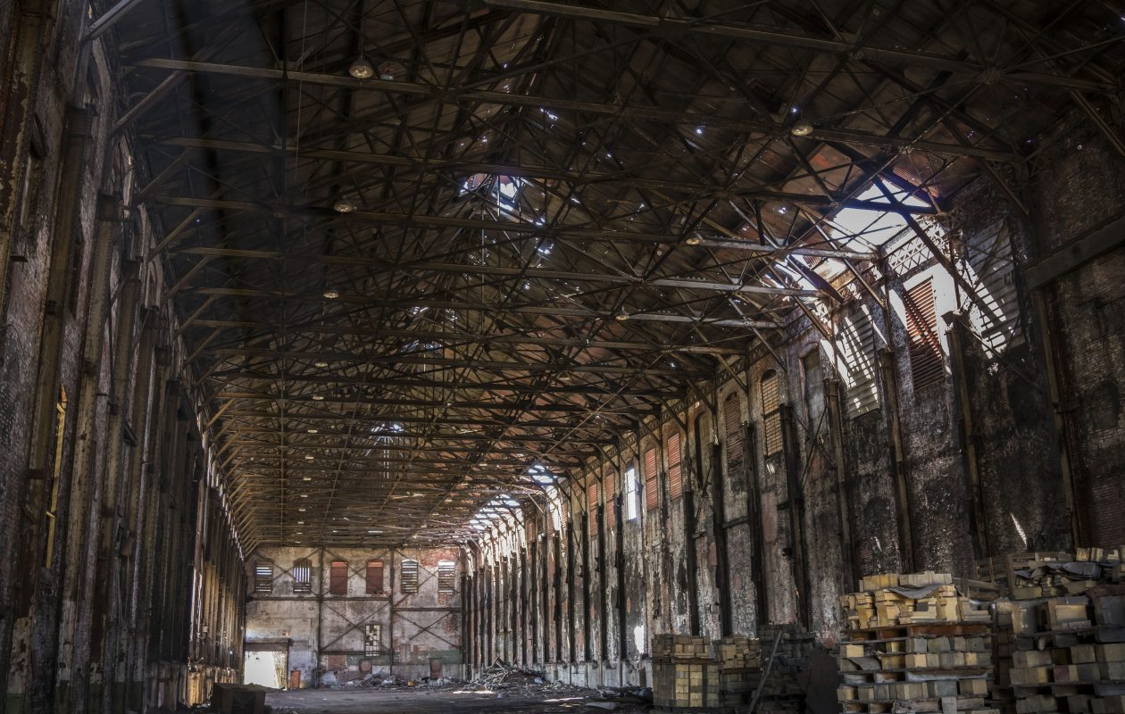 The abandoned engine house at the former Bethlehem Steel facility in Lackawanna. (Derek Gee/Buffalo News)