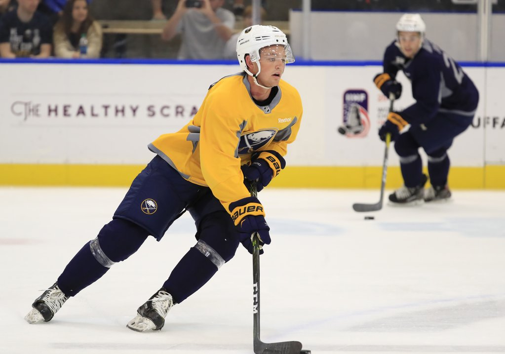 Defenseman Will Borgen is in his third development camp with the Sabres (Harry Scull Jr../Buffalo News).