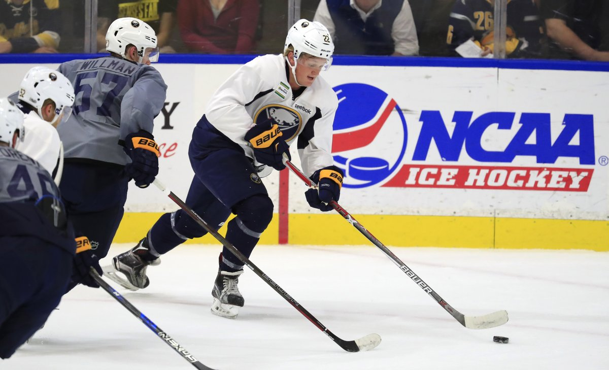 First-round pick Casey Mittelstadt shined at HarborCenter the last four days. (Harry Scull Jr./The Buffalo News)