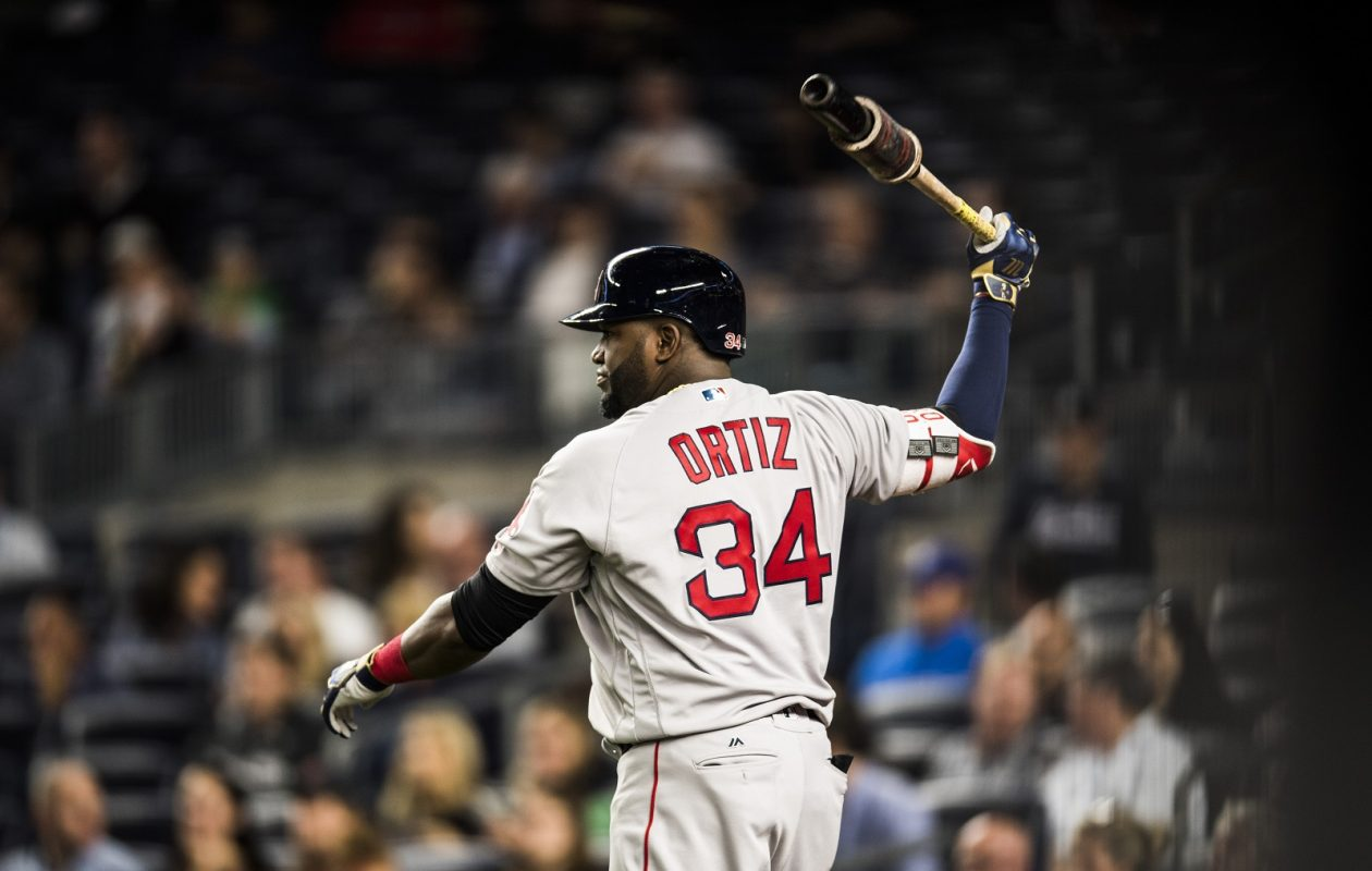 Boston Red Sox slugger David Ortiz warms up for his first at-bat during a 2016 game against the New York Yankees at Yankee Stadium.  (Ben Solomon/The New York Times)