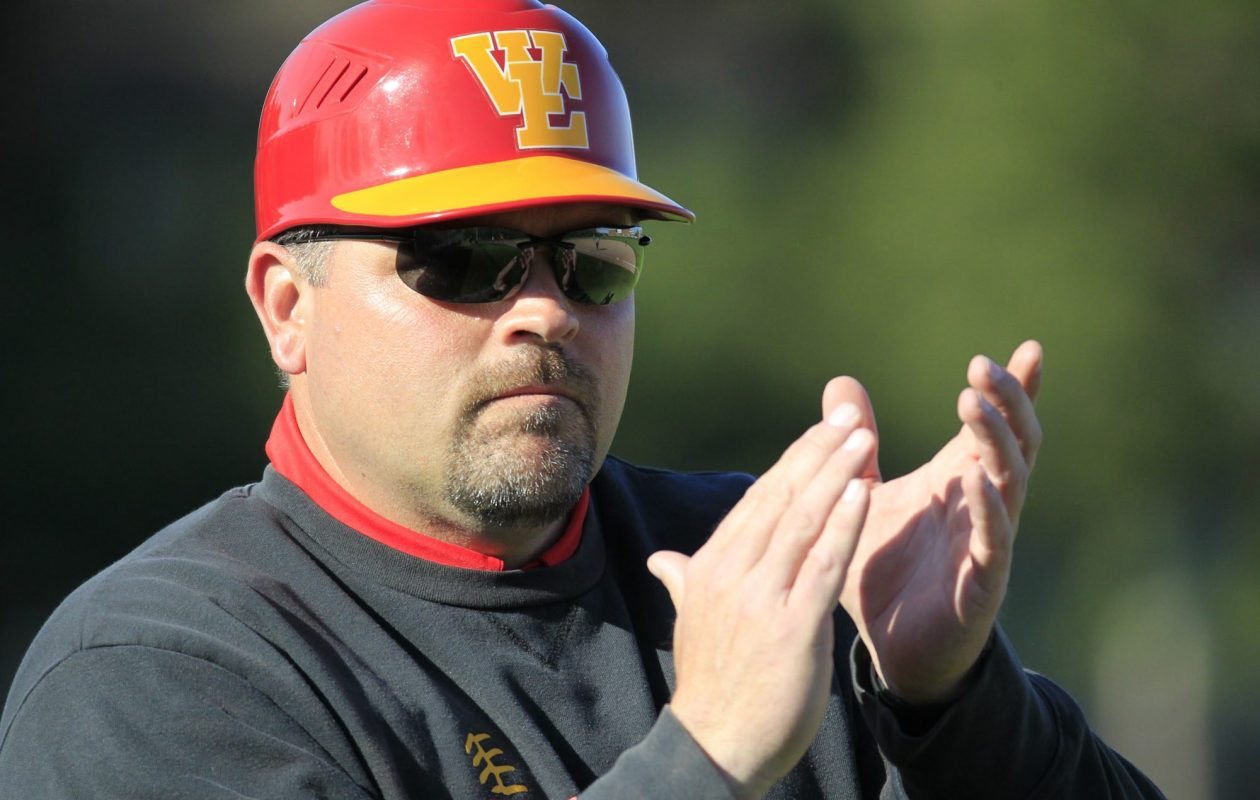 Williamsville East coach Chris Durr guided the Flames to their first state final four and an 18-4 record. (Harry Scull Jr./Buffalo News)