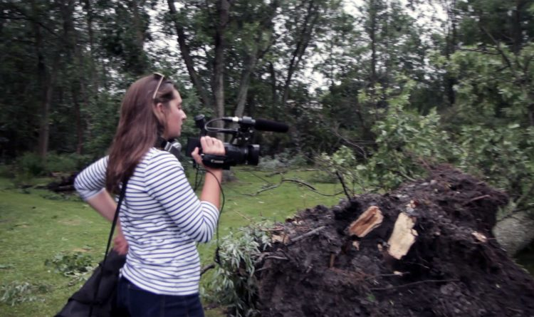 Tornado down the street gives Hilbert campers a taste of breaking news