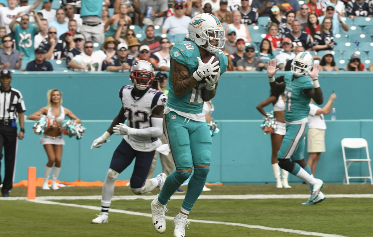 One of the Dolphins' most important offseason moves was signing wide receiver Kenny Stills before he could become a free agent. (Photo by Eric Espada/Getty Images)
