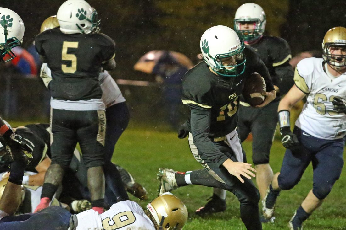 Matt Myers accounted for 20 touchdowns as a junior for Bishop Timon-St. Jude. (James P. McCoy/Buffalo News)