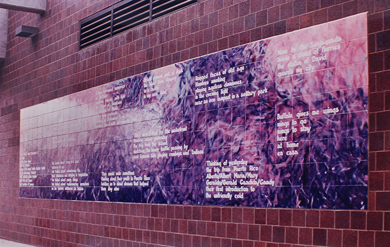 The tile mosaic owned by NFTA is full of poems and inspiraton. (Photo provided by NFTA)