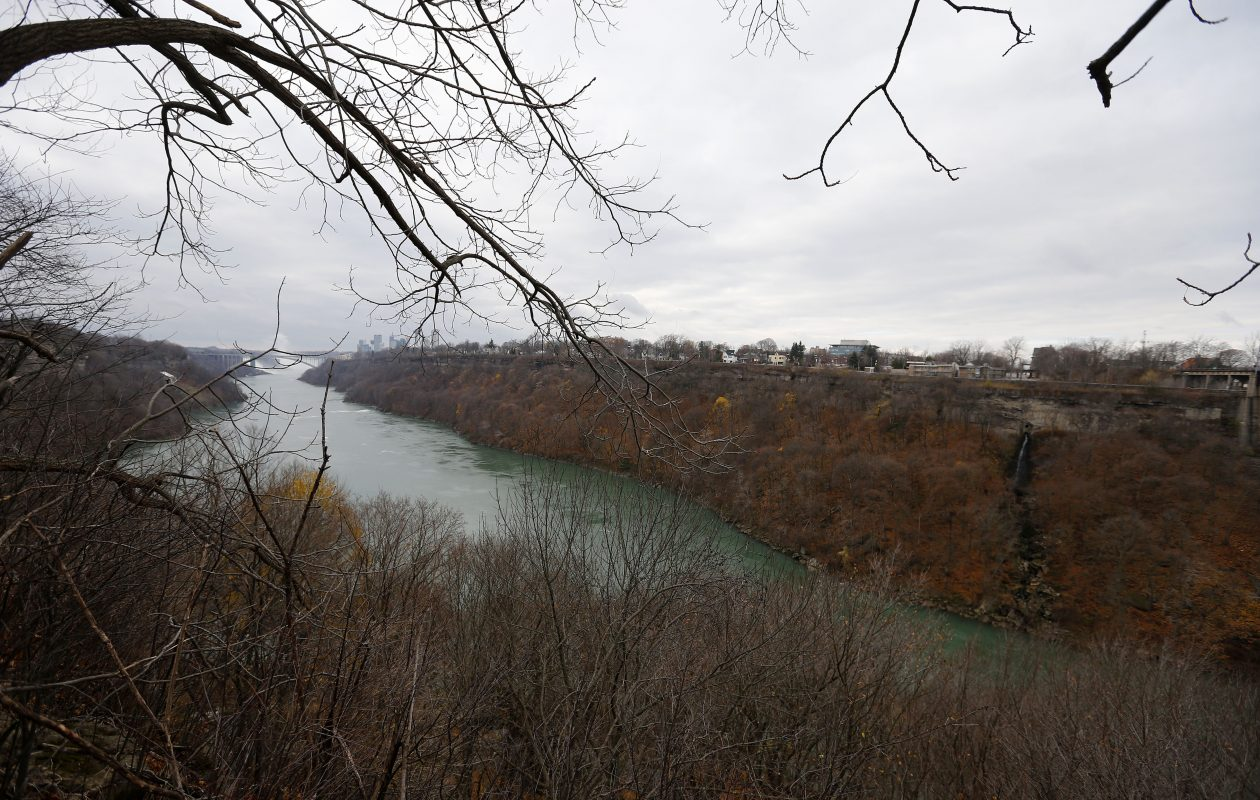 A view of Niagara Falls from the Great Gorge Railway Trail.   (Mark Mulville/News file photo)