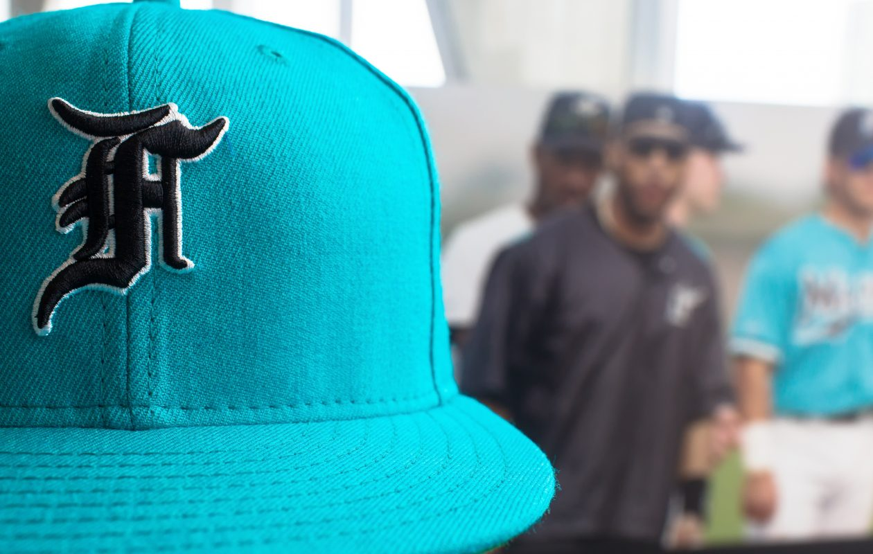 A baseball cap designed for former Florida Marlin Gary Sheffield by the Fear of God design label in collaboration with the New Era Cap Company. (Carlos Miller/ Special to The News)