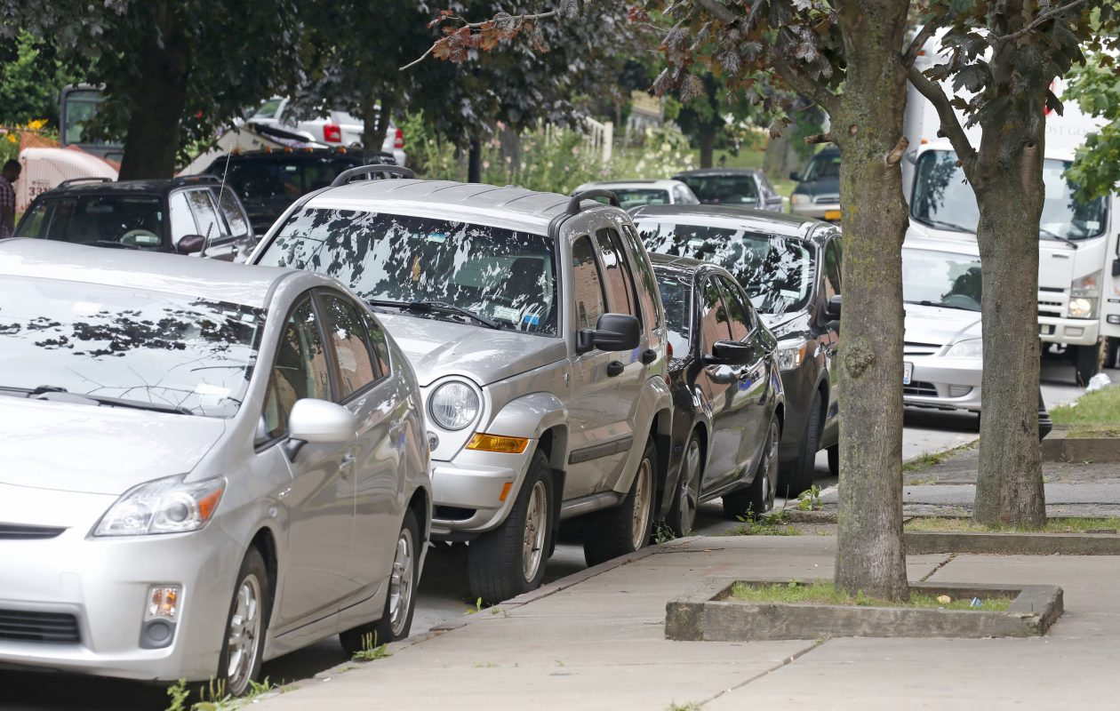 Parking is a challenge on this section of North Pearl Street near the Medical Campus. (Robert Kirkham/Buffalo News)