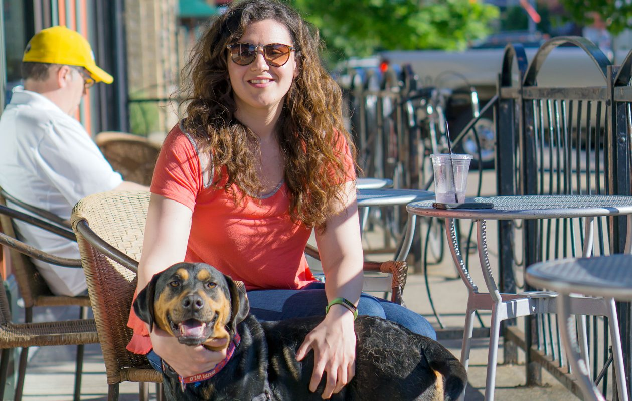 Since legislation passed in 20015, Brittany Luongo is able to take her Rottweiler/Shar Pei rescue dog, Dutch, to more dog-friendly patios around the city. (Dave Jarosz)