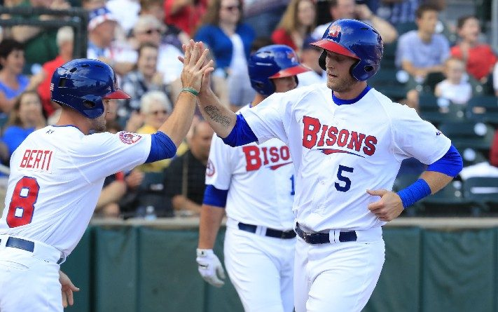Bisons' offense, pitching shine in one-sided win