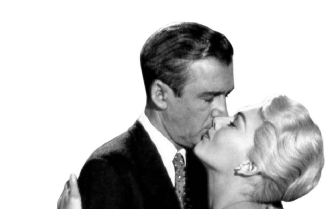 James Stewart and Kim Novak in Alfred Hitchcock's 'Vertigo.' (News file photo)