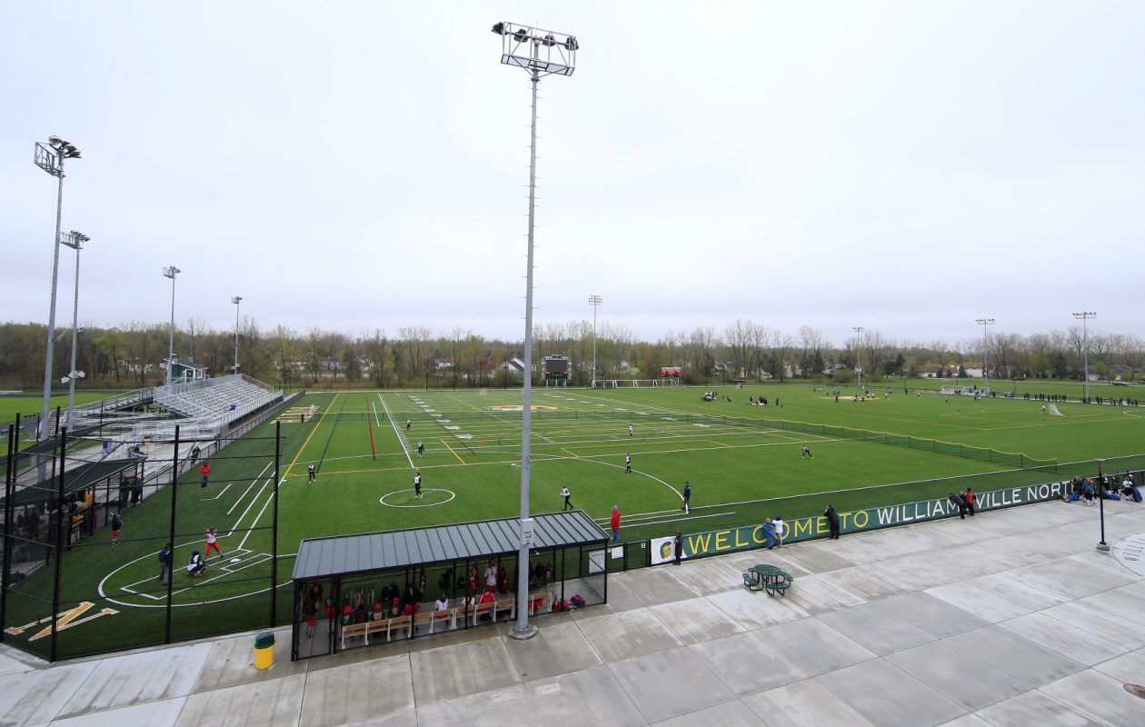 A shot of Williamsville North High School's multipurpose athletic fields. (Harry Scull Jr./Buffalo News)