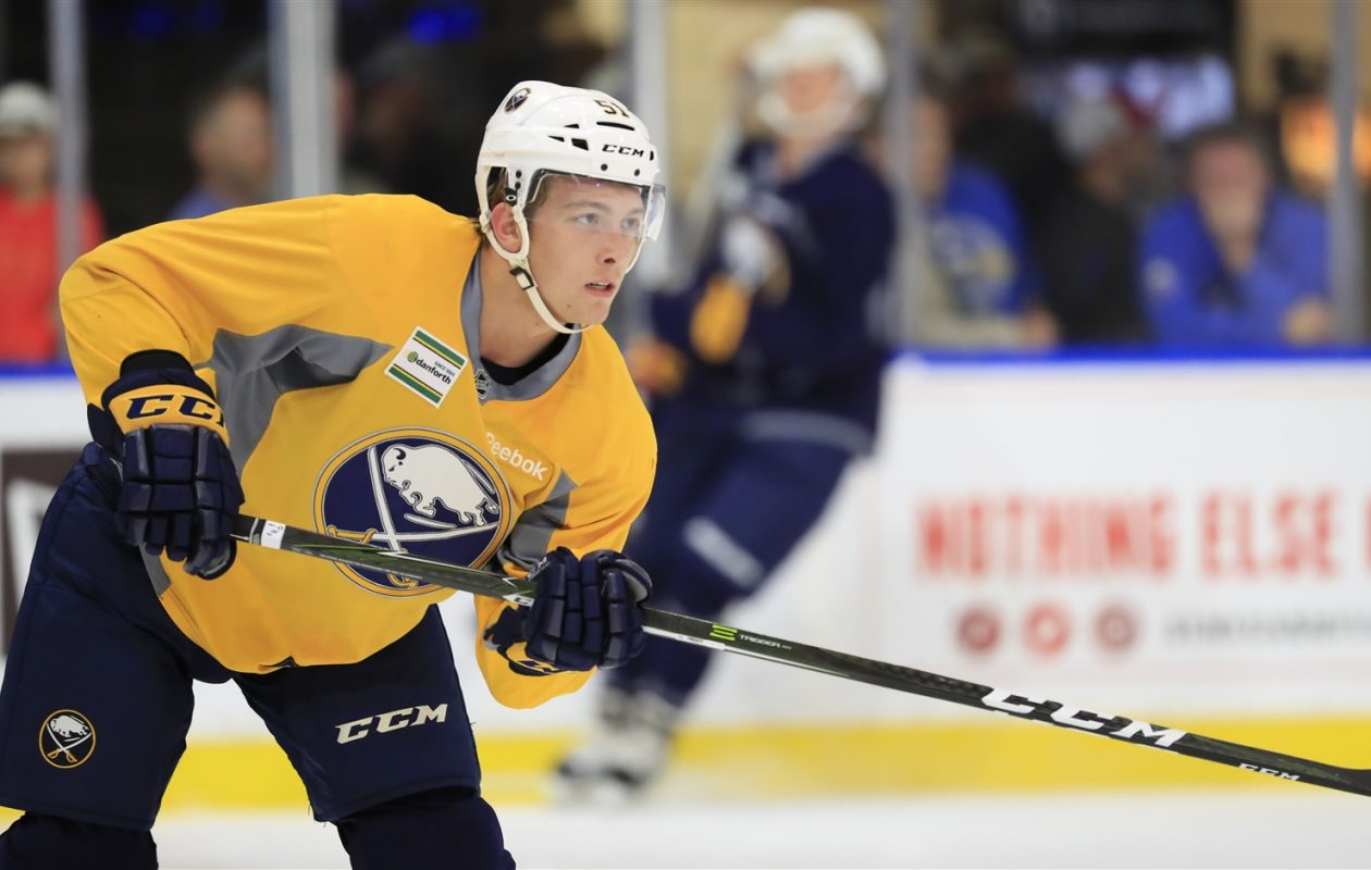 Austin Osmanski is in his second Sabres development camp. (Harry Scull Jr./The Buffalo News)