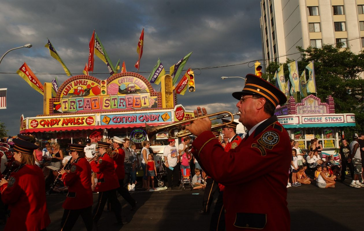 The Sanborn Fire Company Band performs during the parade at Canal Fest in Tonawanda on July 19, 2005. (File photo by Derek Gee / The Buffalo News)