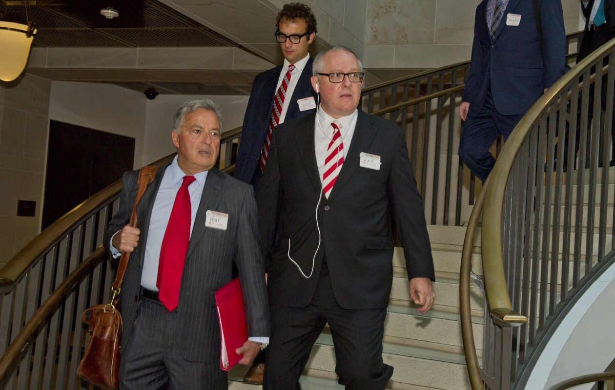 Michael Caputo arrives on Capitol Hill in July prior to his testimony before the U.S. House Permanent Select Committee on Intelligence  in Washington. (Ron Sachs / CNP)