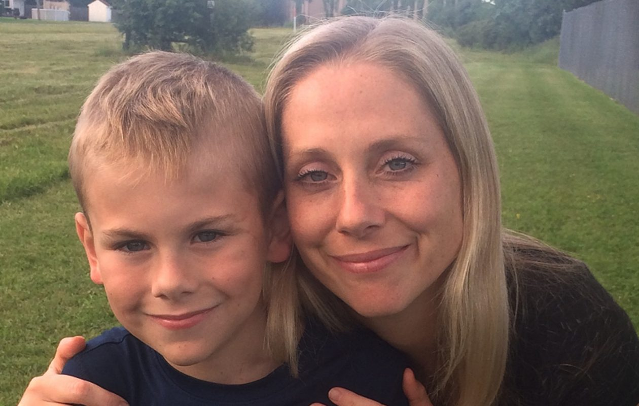 Tracy Hurley, right, of Snyder, has helped teach her 10-year-old son, Conlen, how to best handle situations that might impact his serious peanut allergy. (Photos courtesy of the Hurley family)