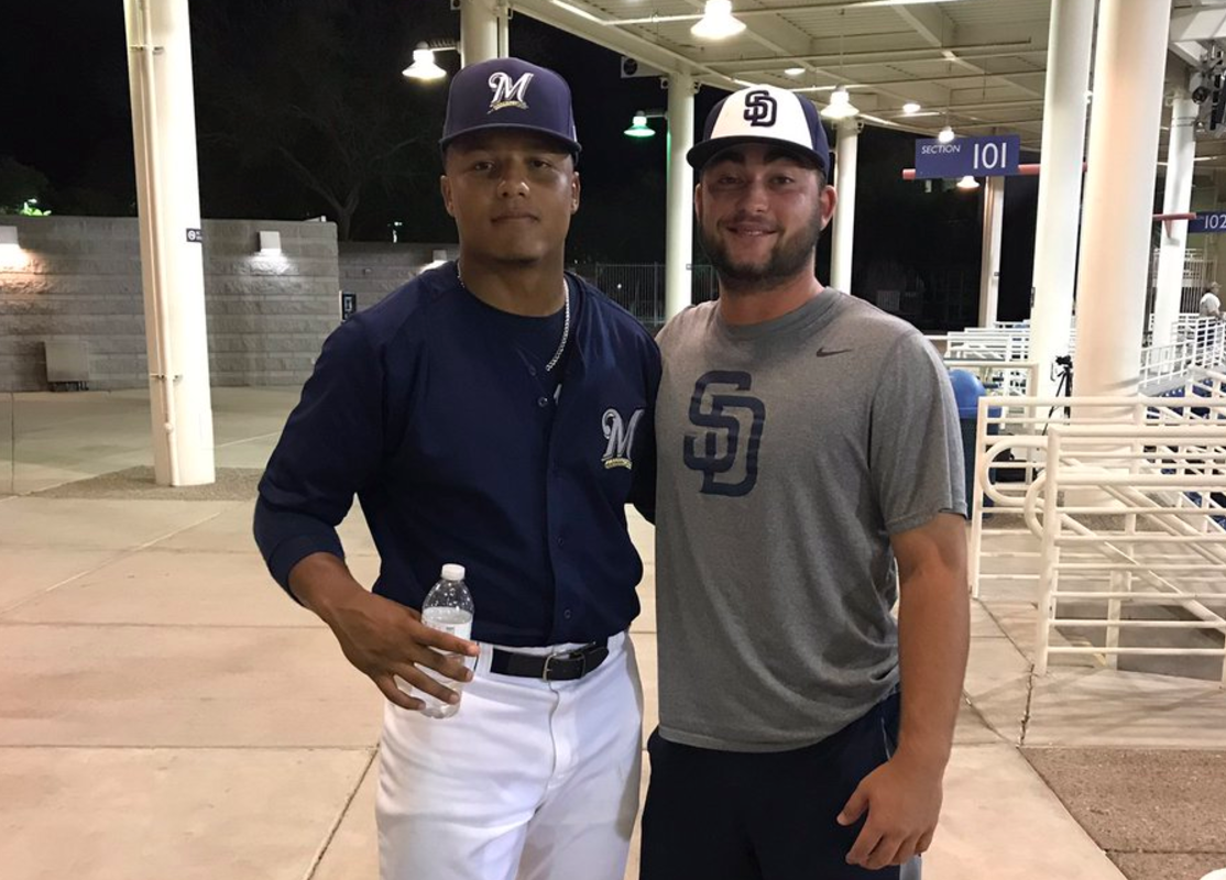 WNYers LG Castillo, left, and Dan Dallas played each other in the Arizona League. (via @dandukedallas)