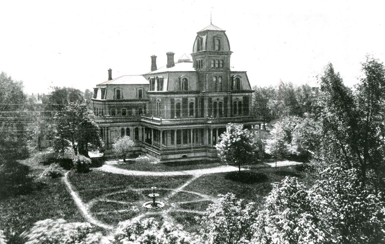The Fargo Mansion took up an entire city block and was bounded by Fargo and West avenues and Jersey and Pennsylvania streets. It was demolished in 1901. (Buffalo News archives)