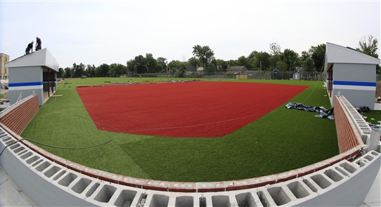 Construction continues on fields at Kenmore West
