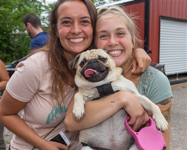 Smiles at Chugs for Pugs at Flying Bison