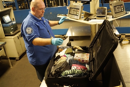 Behind the scenes at TSA bag check in Buffalo airport